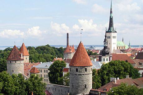 RUNDREJSE i de baltiske lande - 6 nt., udflugter & dansktalende rejseleder. Fly fra BLL/CPH i sep.