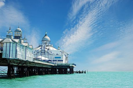 An Eastbourne stay at Shore View Hotel for two people with breakfast, 1.30pm early check in and 1pm late check out. £159 for five nights, £179 for family of four, £229 for seven nights, or £249 for family of four - save up to 69%