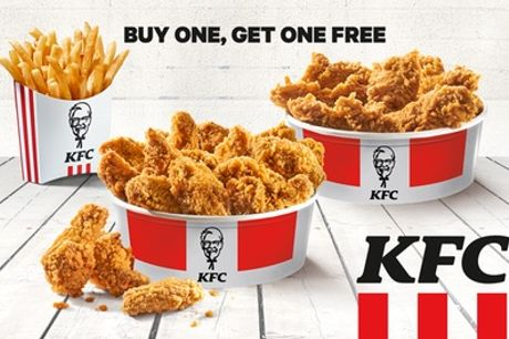 Buy One, Get One Free Chick'n'Share: Hot Wings und/oder Crispys inkl. 1 Large French Fries bei KFC