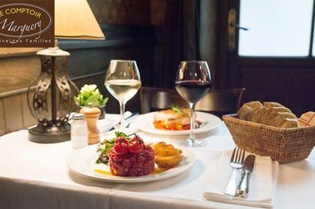 """Menu """"Gourmet"""" en 3 services pour 2 personnes au restaurant Le Comptoir Marguery"""