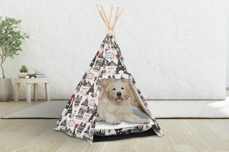£19.99 for a PawHut portable pet teepee from MHStar!