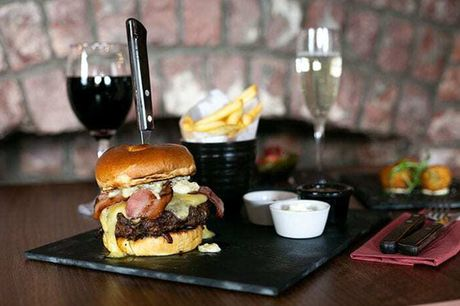£14 instead of £41 for a burger and cocktail each for two people at Signature Steakhouse in Trafford Hall Hotel, Stretford - save 66%