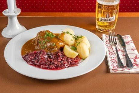 Deftiges Hauptgericht zum Mitnehmen im Gasthaus Julchen Hoppe (bis zu 27% sparen*)