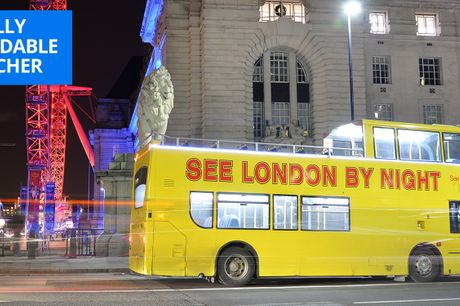 £15 -- London: 90-minute open-top bus tour with guide