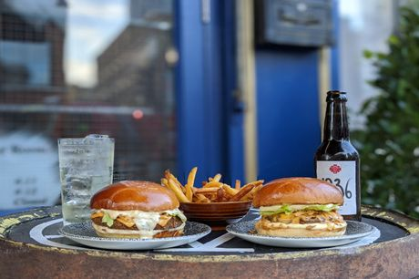 45% off a burger, fries and a cocktail or a beer at Milroy's
