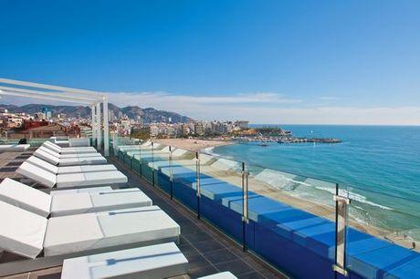 España Benidorm - Hotel Villa del Mar 4* desde 146,00 €. Buen gusto frente al Mediterráneo y todo incluido para adultos