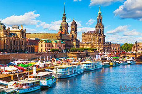 DRESDEN - 4 nætter på 3* hotel inkl. morgenmad og byrundtur mm. Rejse med tog gennem Tyskland.