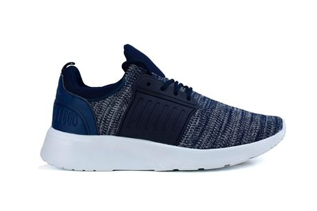 £12.99 for a pair of men's textile trainers, choose from UK sizes 6-11!
