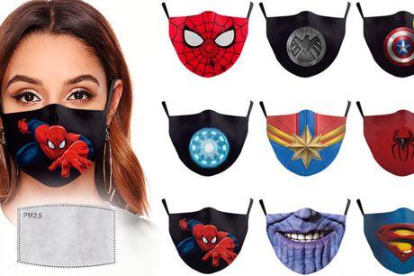 Superhelte Ansigts-Masker m. Filter