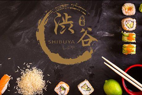Shibuya Sushi er tilbage - Take away deal! - Friskt og lækkert - Så er der take away fra Shibuya Sushi. Glæd dig til denne lækre menu med 48 stk. sushi. Værdi kr. 443,-