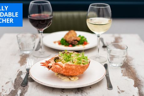 £29.95 -- North London: 3-course meal & wine for 2, 50% off