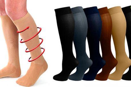 Behagelige lange strømper der beskytter benet og fremmer blodcirkulation