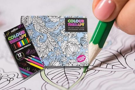 From £3.98 for an adult colouring therapy book with optional pencils from London Exchain Store - save up to 73%