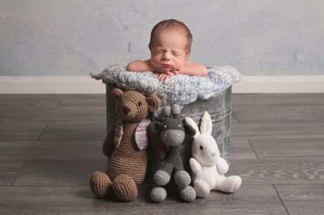 """£9 instead of £69 for a newborn baby photoshoot including a 7"""" x 5"""" print at Xposure Studios, Liverpool - save 87%"""