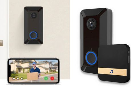 Trådløs video-dørklokke. Se hvem der ringer på døren på din mobil