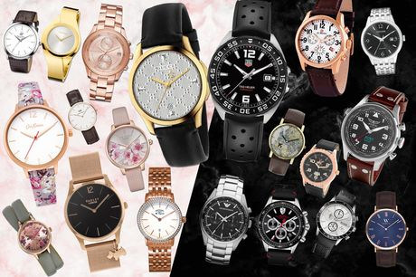 £10 for a mystery watch deal for him or her from Brand Arena - Tag Heuer, Gucci, Armani, Hugo Boss, Rotary, Kahuna, Beverly Hills & more!