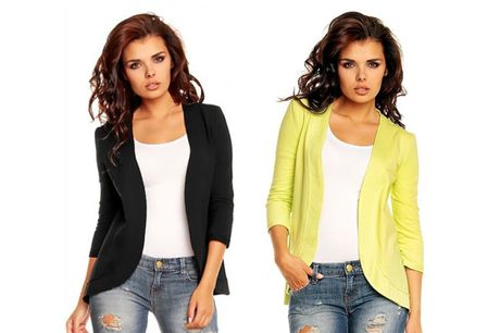 £4.99 for a lightweight cotton blazer - choose from four colours!