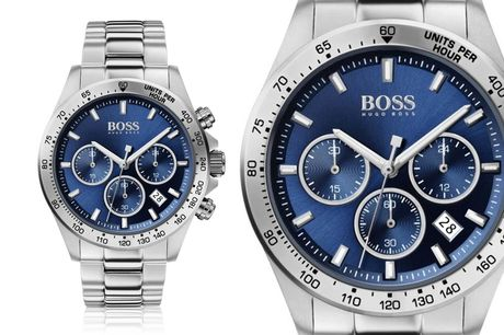 £129 instead of £349 for a men's Hugo Boss HB1513755 sport lux stainless steel watch from Best Watch Company - save 63%