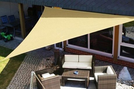 £16.99 instead of £46.99 for a 3.3m triangle sun canopy, £19.99 for a 3.6m canopy or £34.99 for a 5.5m canopy from Hey4Beauty – save up to 64%