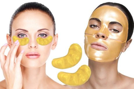 £8.99 instead of £79.97 for a 20pc gold collagen face & eye mask bundle from Forever Cosmetics - save 89%