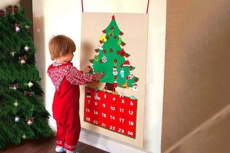 £7.99 instead of £29.99 for a kid's 1-24 DIY felt Christmas advent calendar from Domo Secret - save 73%