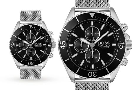 £129 for a Hugo Boss 1513701 black ocean edition men's watch from Best Watch Company