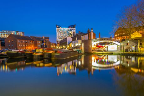 A central Birmingham stay at Clayton Hotel Birmingham for two people with breakfast, three-course dinner, £20 shopping voucher and late checkout. From £109 for one night, or from £179 for two nights - save up to 36%
