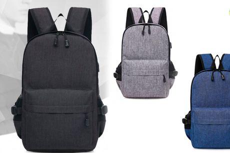 Smart ergonomisk rygsæk med anti-tyveri funktion og USB-opladning