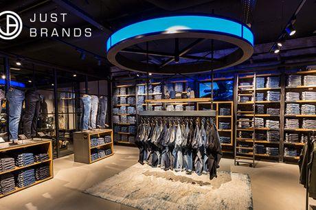 Waardebon voor mannenkleding bij Just Brands