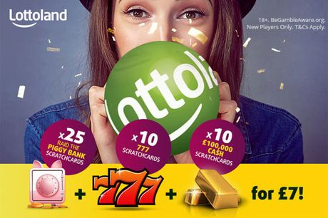 £7 instead of £21.25 for 25 'PiggyBank' scratchcards, 10 '777' scratchcards and 10 '100k' scratchcards with Lottoland - save a super 67%