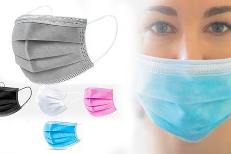 Mundmasker/bind i flere farver - Medicinsk kvalitet