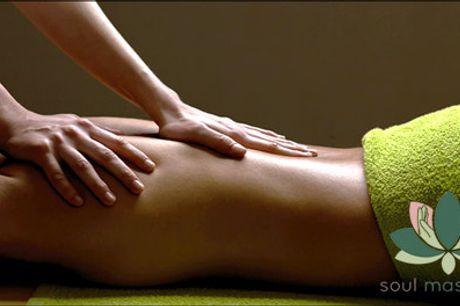 Lækre økologiske produkter - deal på skøn massage - Velkommen hos SoulMassage i Kbh S eller på Frederiksberg. Glæd dig til 60 min. skøn wellness massage. Værdi kr. 600,-