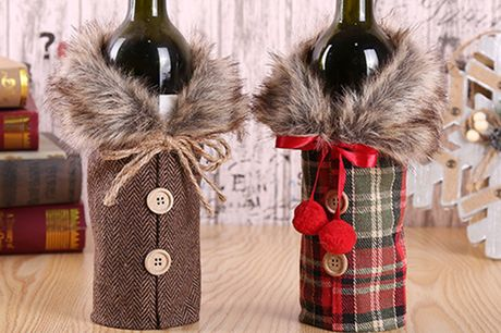 £4.99 instead of £39 for a festive wine bottle cover or £6.99 for a set of two covers from Magic Trend - save up to 87%