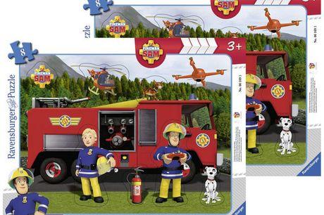 2x Brandweerman Sam Puzzel | 8 pcs