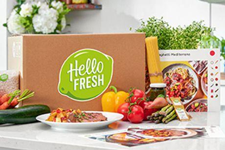 30 % på de første 2 måltidskasser. Helt uden binding. Virkelig lækker mad til en i forvejen god pris hos HelloFresh.