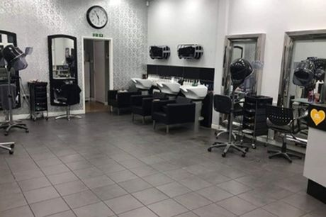 Wash, Cut and Blow-Dry with Optional Half Head Highlights at Platinum Hair Design (Up to 44% Off)