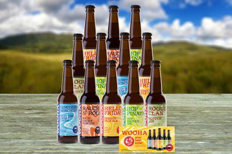 £14.95 instead of £34 for a 'Wee Taste Of The Highlands' beer hamper from WooHa Brewing including 12 bottles - save 56%