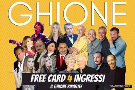 Abbonamento per 4 spettacoli della stagione 2020-2021 al Teatro Ghione (sconto fino a 40%)