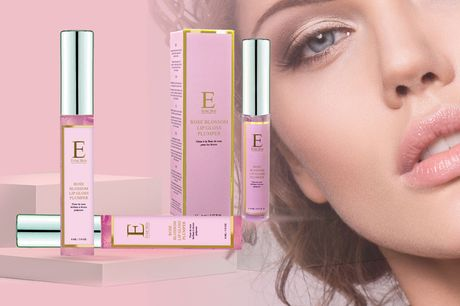 £6.99 instead of £49 for one rose blossom lip gloss plumper, £12.99 for two, and £15.99 for three from Eclat Skin London - nourish your lips