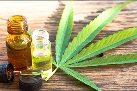 Køb i dag - 1000 mg. CBD olie 10% - Organisk, fuldspektret hamp ekstrakt - Du får 1 stk. 1000 mg CBD-olie 10% forhandlet af Slaikjaer Management. Værdi kr. 619,-