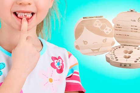 Fin æske mælketænder - fås til både piger og drenge
