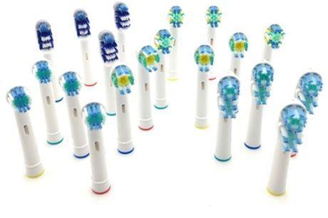 Pack de hasta 20 cabezales compatibles con cepillos de dientes Oral B