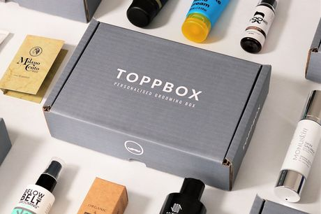 £12 instead of £24 for a personalised men's luxury grooming mystery box subscription from TOPPBOX - get up to seven premium products and save 50%