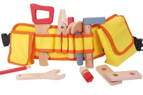 Kids' Wooden Carpenter's Belt with Tools