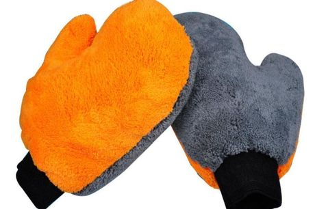 £5.99 instead of £19.99 for a pair of microfibre car cleaning mitts from Arthur Gold - save 70%
