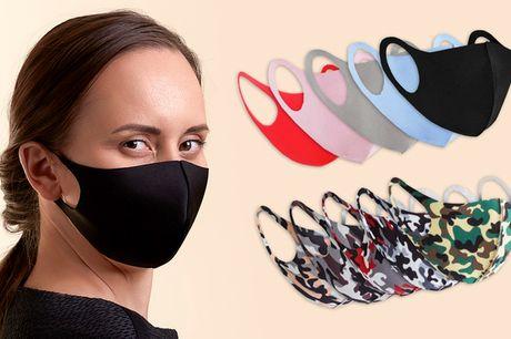 10 eller 20 stk. vaskbare mundbind. Så behøver du ikke købe flere mundbind! 10 forskellige farver