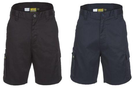 Black or Navy MIG Men's Cargo Work Shorts