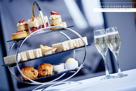 Afternoon Tea with Optional Prosecco for Two at Marco Pierre White Steakhouse Bar and Grill (Up to 40% Off)