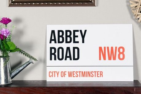 £9 for customised aluminium wall art in the style of a London street sign from Colour House Print!