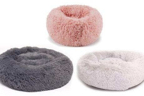 Round Faux Fur Pet Bed